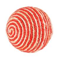 Когтеточка-шарик оранжево-белый