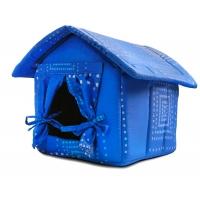 Будка для собак со шторкой